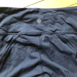 Athleta Pants - Athleta Navy Powervita Mesh 7/8 leggings